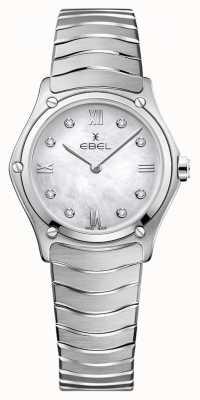 EBEL Womens sport classic | mãe de discagem pérola | conjunto de diamantes | 1216417A