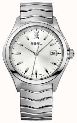 EBEL | onda dos homens | pulseira de aço inoxidável | mostrador prateado | 1216200