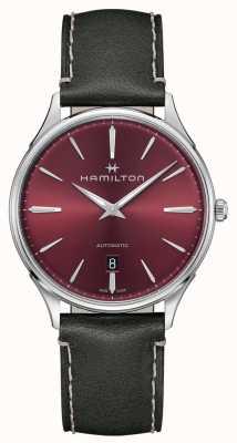 Hamilton Jazzmaster thinline | automático | mostrador vermelho | cinta cinza H38525771