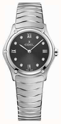 EBEL Womens sport classic | mostrador cinza | conjunto de diamantes | inoxidável 1216416A