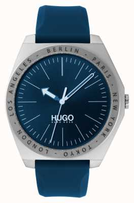 HUGO #act | pulseira de borracha azul | mostrador azul 1530105