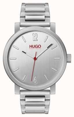 HUGO #rase | pulseira de aço inoxidável | mostrador prateado 1530117