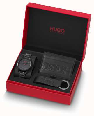 HUGO #rase   giftset   chaveiro   titular do cartão   pulseira ip preta 1570096