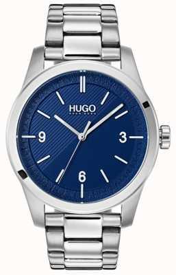 HUGO #create | pulseira de aço inoxidável | mostrador azul 1530015