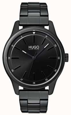 HUGO #dare | pulseira preta ip | mostrador preto 1530040