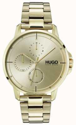 HUGO #focus | pulseira de ouro ip | mostrador de ouro 1530026