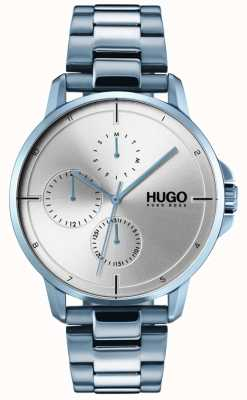 HUGO #focus | pulseira de ip azul | mostrador prateado 1530051