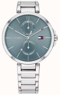 Tommy Hilfiger | angela pulseira de aço inoxidável | mostrador azul | 1782126