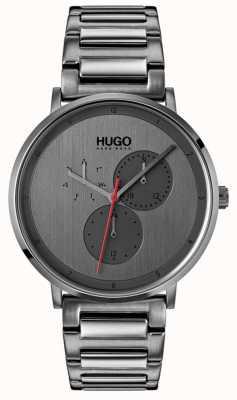 HUGO #guide | pulseira cinza ip | mostrador cinza 1530012
