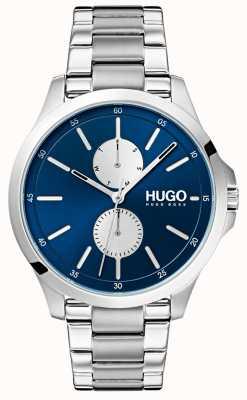 HUGO #jump | pulseira de aço inoxidável | mostrador azul 1530004
