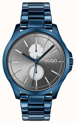 HUGO #jump | pulseira de ip azul | mostrador cinza 1530006