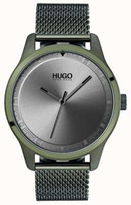 HUGO #move | pulseira de malha ip verde | mostrador cinza 1530046