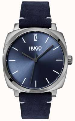 HUGO #own | pulseira de couro azul | mostrador azul 1530069
