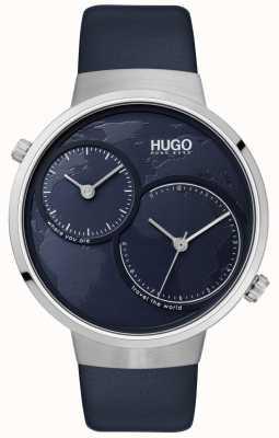 HUGO #travel | pulseira de couro azul | mostrador azul 1530053