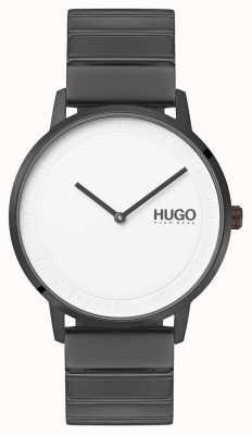 HUGO #echo | pulseira cinza ip | mostrador branco 1520022