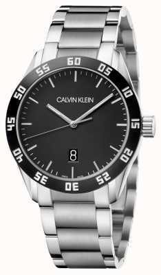 Calvin Klein | de homem | competir | pulseira de aço inoxidável | mostrador preto | K9R31C41