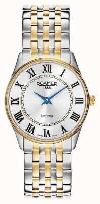 Roamer | mulheres | sonata | pulseira de dois tons | mostrador prateado | 520820 47 15 50