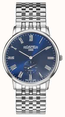 Roamer | galáxia dos homens | pulseira de aço inoxidável | mostrador azul | 620710 41 45 50