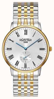 Roamer | galáxia dos homens | aço inoxidável bicolor | mostrador branco | 620710-47-15-50