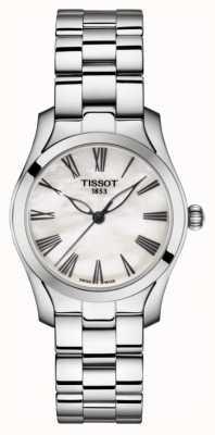 Tissot | onda t | pulseira de aço inoxidável para senhora | madrepérola T1122101111300