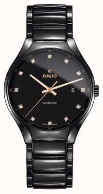 RADO Relógio de cerâmica de alta tecnologia com diamantes automáticos verdadeiros R27056732