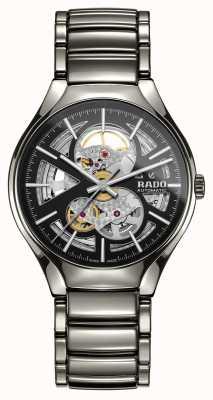 RADO Relógio de cerâmica de alta tecnologia com plasma automático de coração aberto verdadeiro R27510152