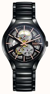 RADO Relógio de cerâmica de alta tecnologia com plasma automático de coração aberto verdadeiro R27100162