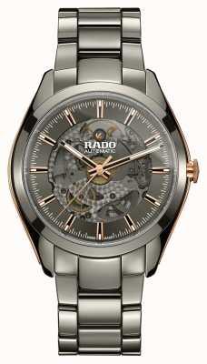 Rado Relógio automático de pulseira de cerâmica com coração aberto Hyperchrome R32021102