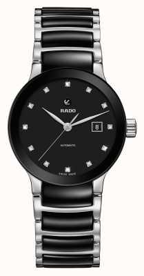 Rado Relógio automático de pulseira de cerâmica de diamantes Centrix R30009752