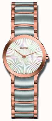 Rado Centrix relógio de discagem pérola em aço inoxidável de dois tons R30186923