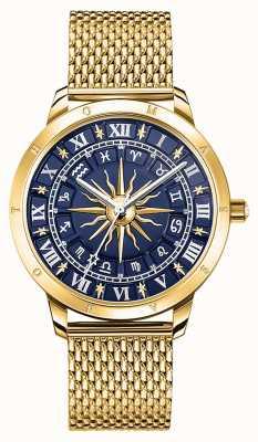 Thomas Sabo | astro glamour feminino | mostrador azul | malha de ouro | WA0352-264-209-33