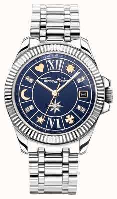 Thomas Sabo | charme da sorte das mulheres | mostrador azul | pulseira de aço inoxidável WA0354-201-209-33