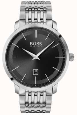 Boss | clássico premium masculino | aço inoxidável | mostrador preto | 1513746