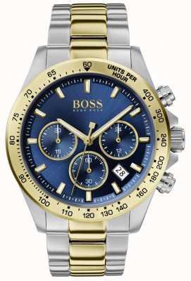 BOSS | herói desportivo de luxo para homem | pulseira de dois tons | mostrador azul | 1513767