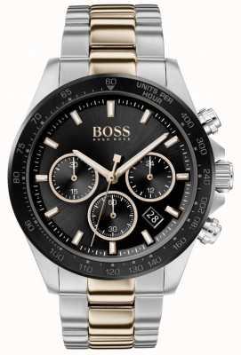 BOSS | homem | herói esporte lux | pulseira de dois tons | mostrador preto | 1513757