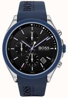BOSS | velocidade masculina | pulseira de borracha azul | mostrador preto | 1513717
