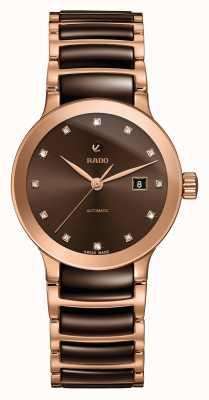 Rado Relógio automático de pulseira de cerâmica de diamantes Centrix R30183752