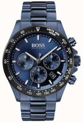Boss | de homem | herói esporte lux | pulseira de aço azul | mostrador azul | 1513758