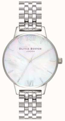 Olivia Burton | mulheres | madrepérola dial | pulseira de aço inoxidável | OB16MOP02