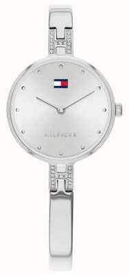 Tommy Hilfiger Kit pulseira de aço inoxidável | mostrador prateado | 1782137