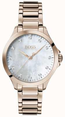 BOSS | diamantes para ela | ouro rosa | madrepérola | 1502523