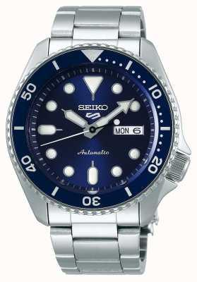 Seiko 5 esporte | esportes automático | mostrador azul | aço inoxidável SRPD51K1
