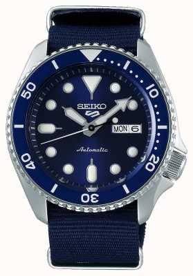 Seiko 5 esportes | esportes | automático | mostrador azul | nato azul SRPD51K2