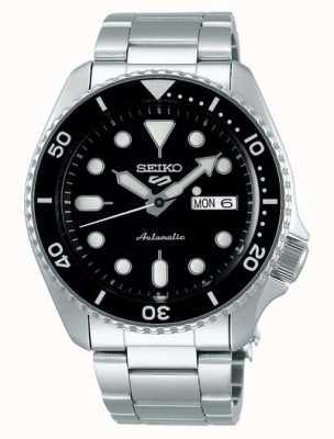 Seiko 5 esporte | esportes automático | mostrador preto | aço inoxidável SRPD55K1