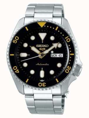 Seiko 5 esporte | esportes automático | mostrador preto e amarelo SRPD57K1
