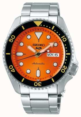Seiko 5 esporte | esportes automático | mostrador laranja | aço inoxidável SRPD59K1