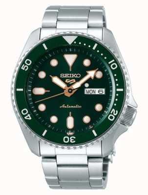 Seiko 5 esporte | esportes automático | mostrador verde | aço inoxidável SRPD63K1