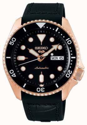 Seiko 5 esporte | especialista | automático | ouro rosa e preto SRPD76K1