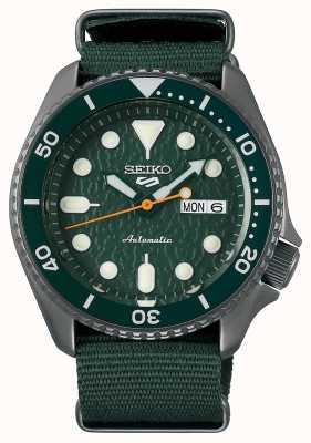 Seiko 5 esporte | sentido | automático | mostrador verde | OTAN verde SRPD77K1