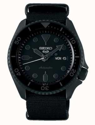 Seiko 5 esporte | rua automático | mostrador preto | OTAN preto SRPD79K1